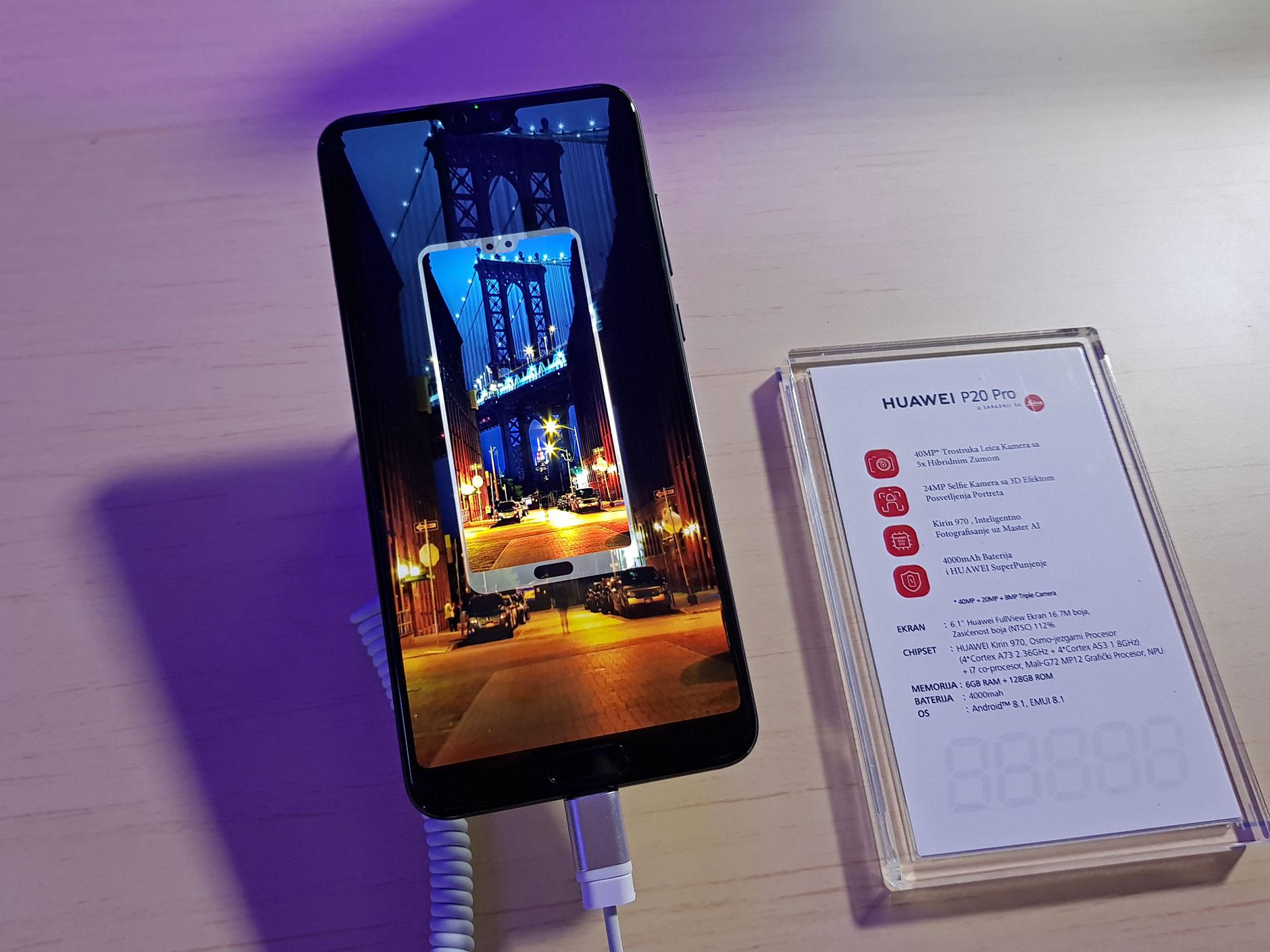Huawei P20 Pro; Prednja strana telefona i specifikacije