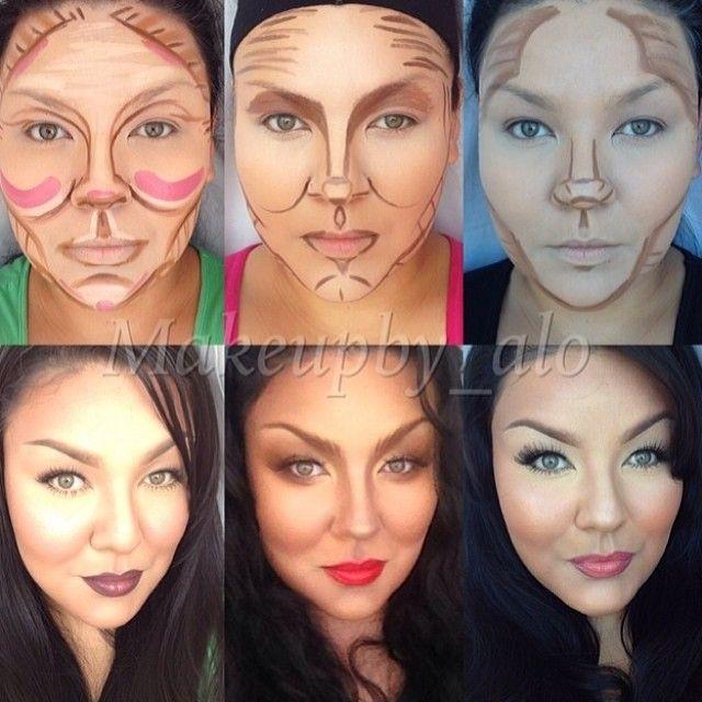 Različiti načini šminkanja daju različite rezultate; Fotografija skinuta sa interneta