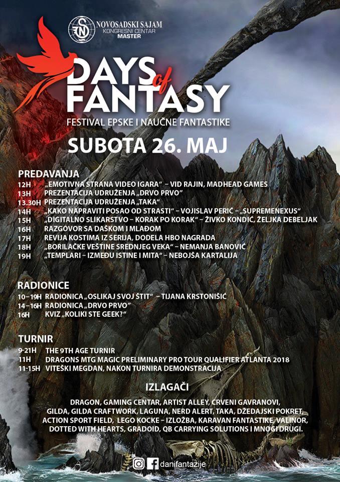 Program festivala 26.maj