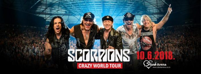 Scorpions u Stark Areni; Foto: facebook.com/StarkArena