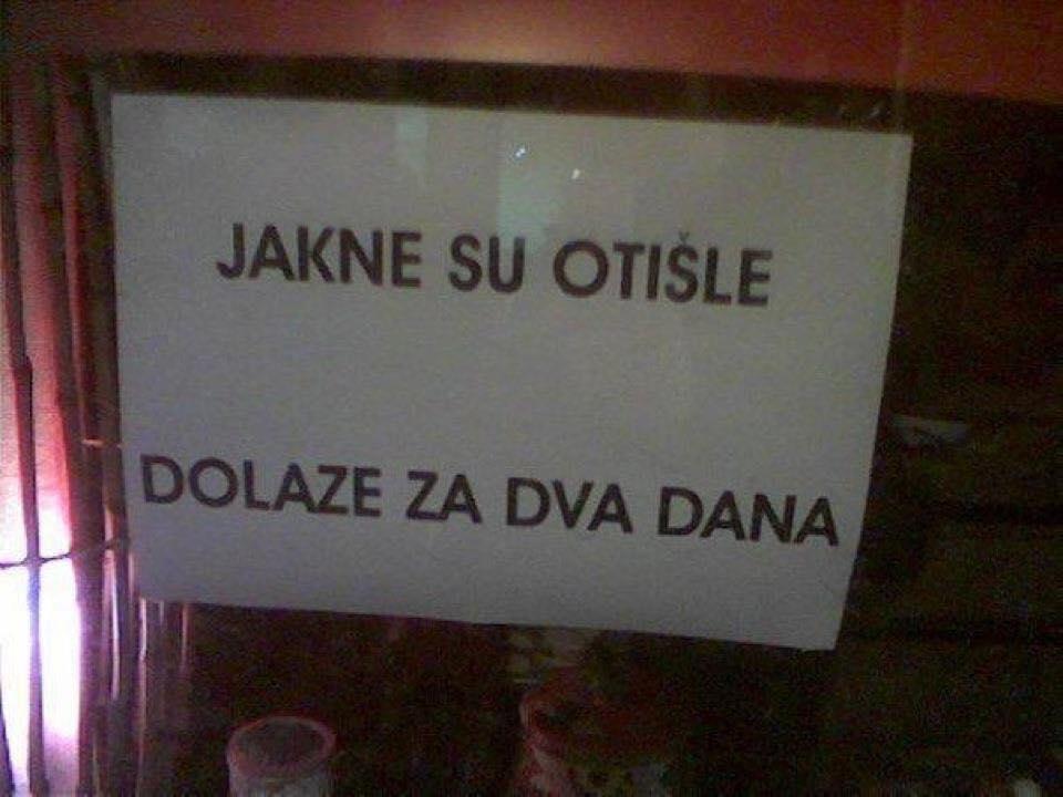 Jakne su otišle na godišnji odmor; Srpski jezik; Foto: facebook.com