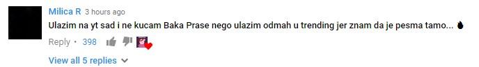 Milica R, komentar na video Baka Prase - Bleja u Turskoj