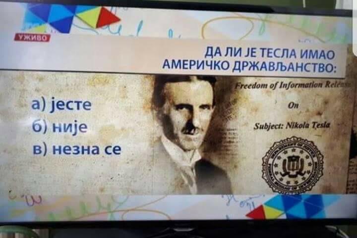 Nezna se da li je Tesla imao američko državljanstvo; Foto: facebook.com