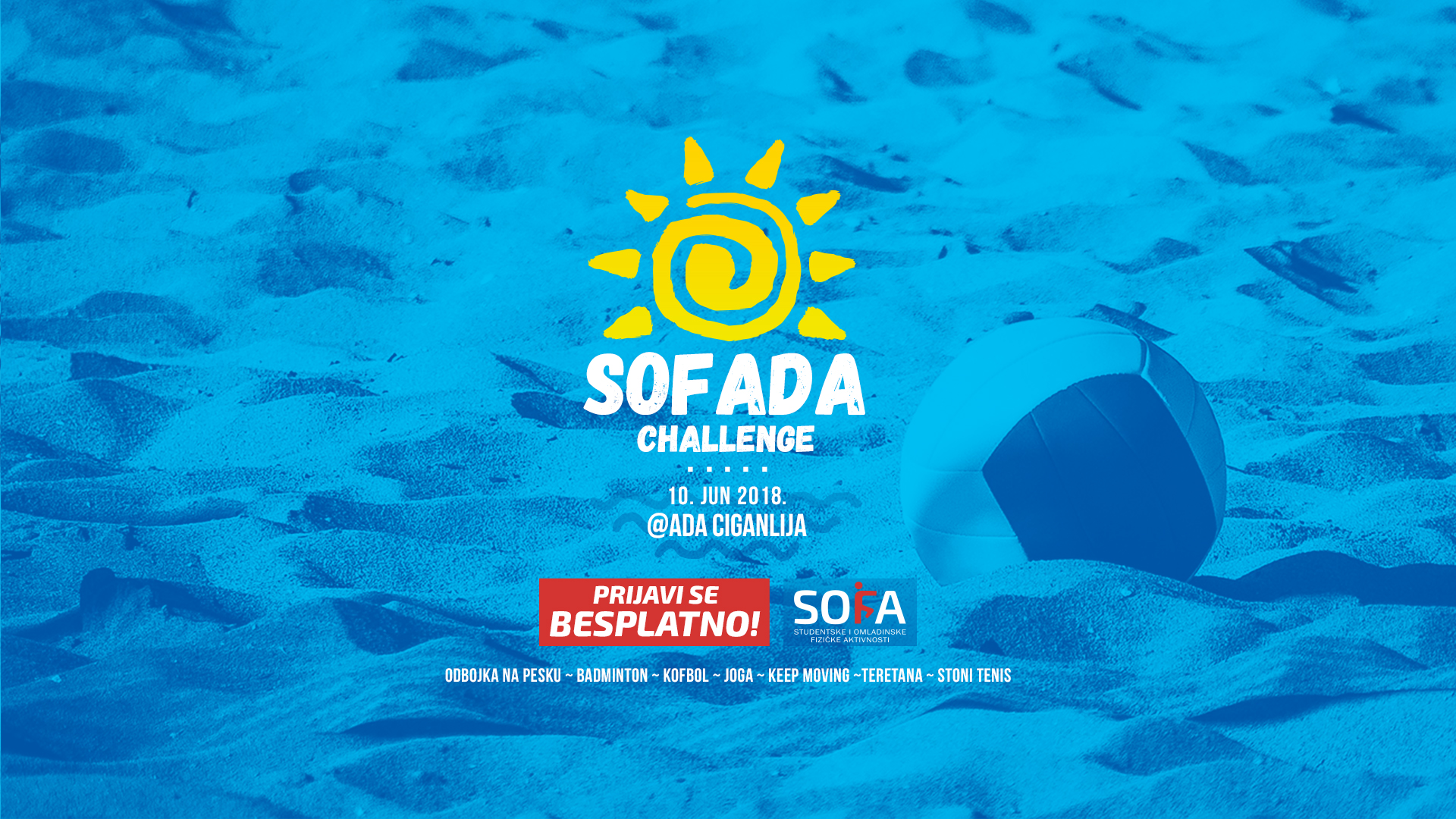 SOFADA CHALLENGE; Ada Ciganlija; Foto sofa.rs