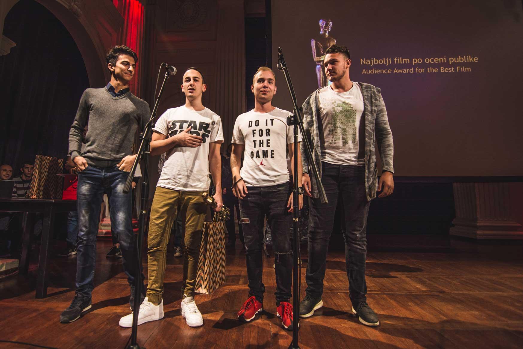 Ekipa filma Ne vidiš da vidiš - Festival srpskog filma fantastike; Foto PR