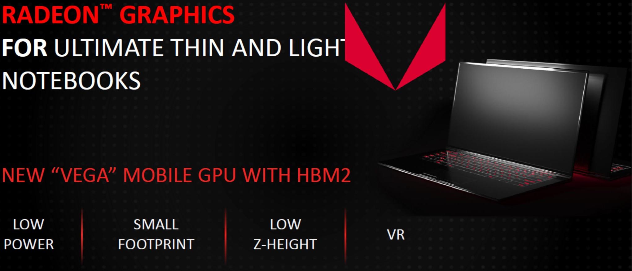Vega GPU Mobile; Foto PR