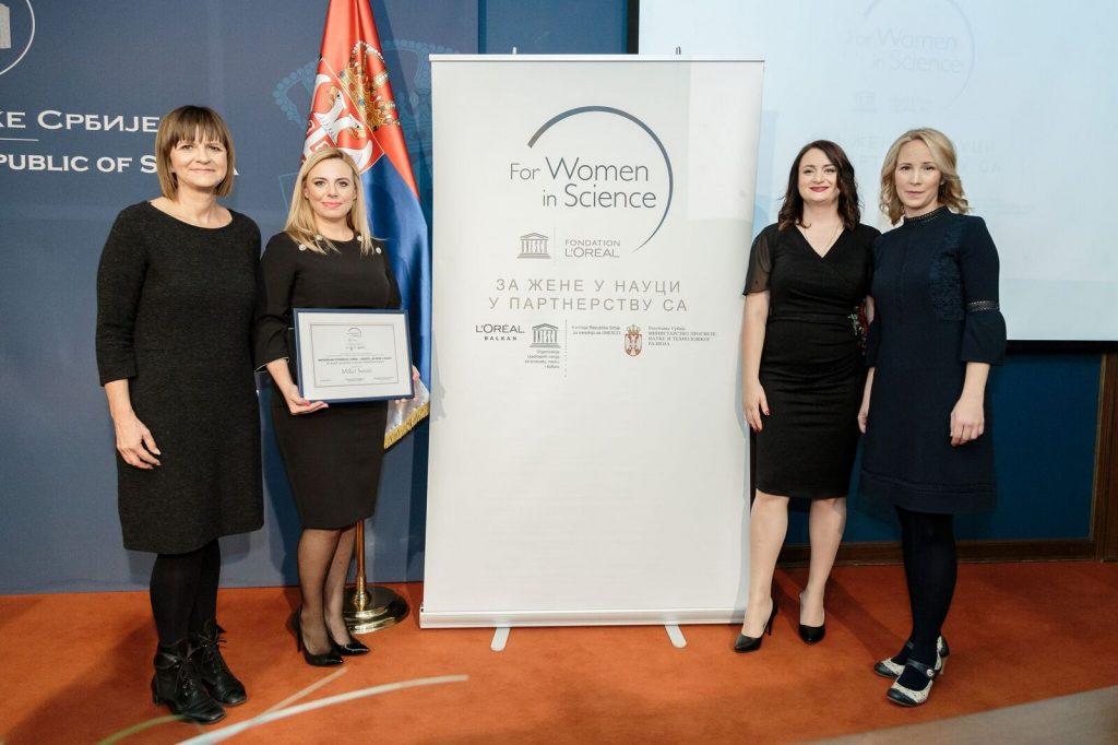 Dobitnice stipendije; Milica Sentić, Mirjana Ćuk i Mirjana Ljubojević; Foto PR