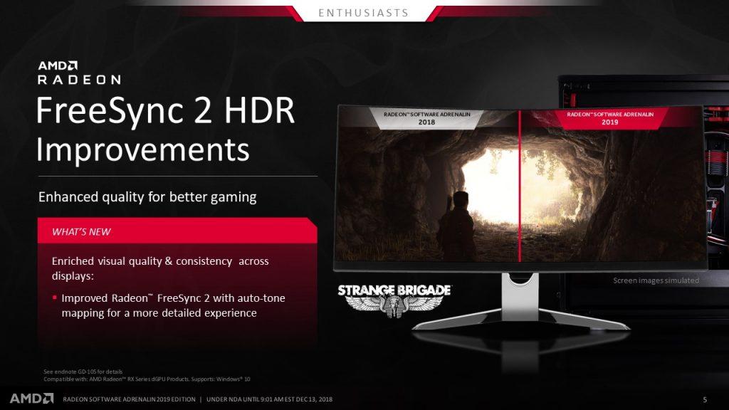 FreeSync 2 HDR - Amd Radeon Software Adrenalin; Foto PR
