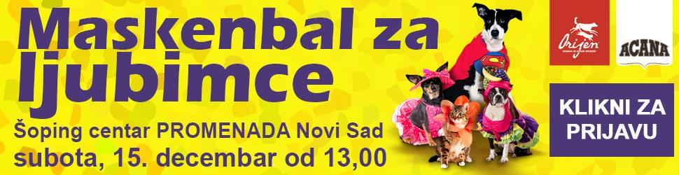 Maskenbal za ljubimce, Šoping centar PROMENADA Novi Sad; Foto Petface.net