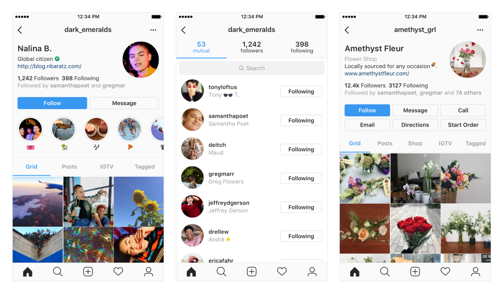 Novi izgled instagram profila i novih tabova; Foto instagram-press.com