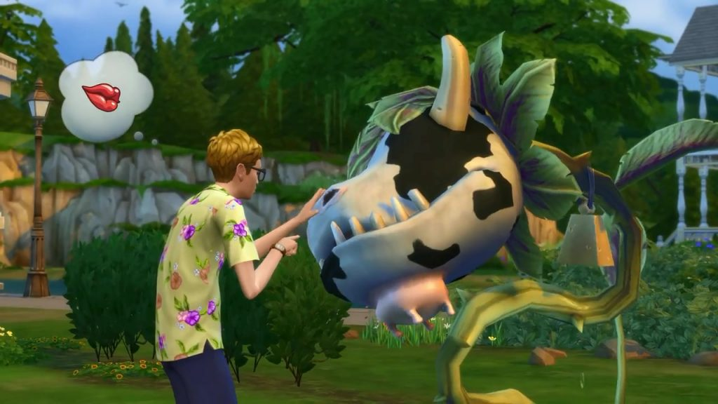Biljka krava - Cow Plant - The Sims 4; Foto simcitizens.com