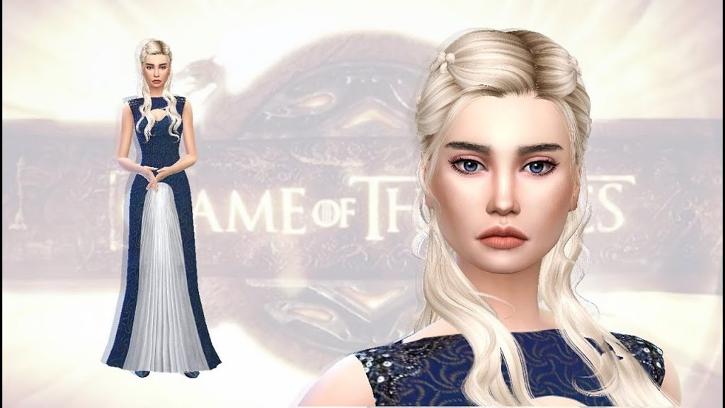 Daenerys Targaryen kao The Sims 4 lik; Foto screenshot youtube.com SimmerKat