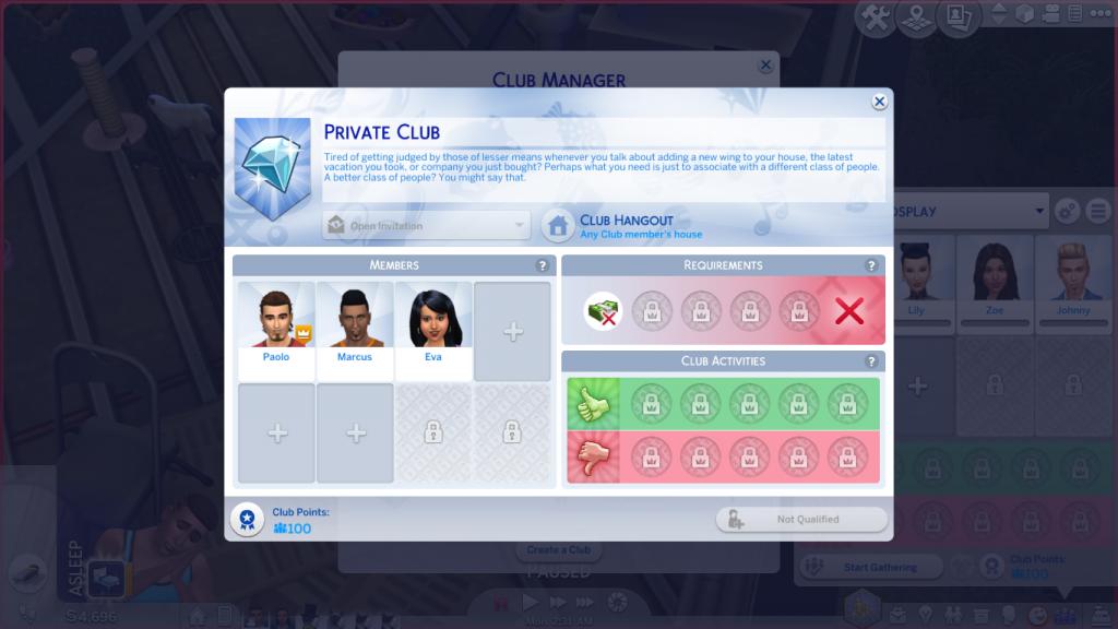 Privatni klub bogatih - The Sims 4; Foto simscommunity.info