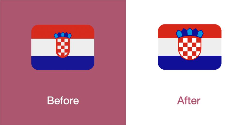 Promenjen emoji zastave Hrvatske na Twitteru - Twemoji 11.3; Foto emojipedia.org