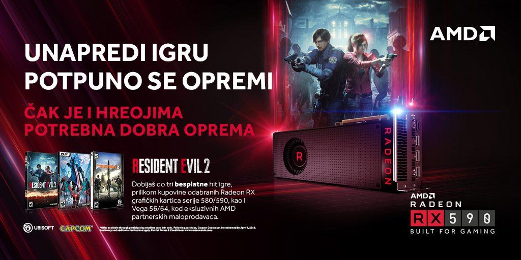 Resident Evil 2 se dobija na poklon uz Radeon GPU-ove; Foto PR