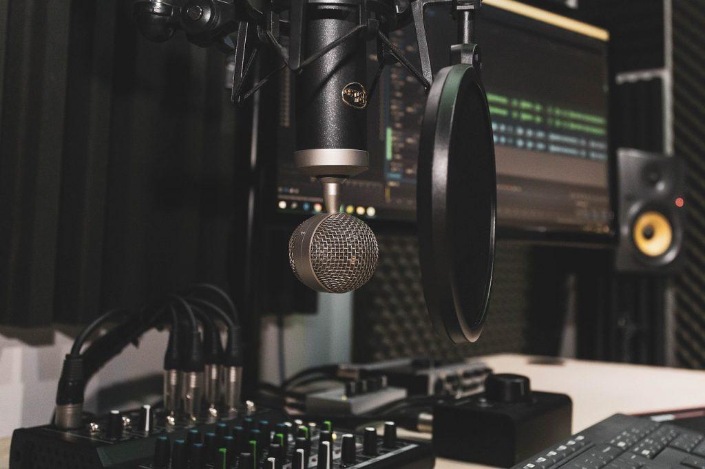 Setup za podcast; Foto pixabay.com