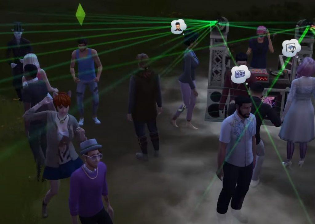 The Sims 4 žurka