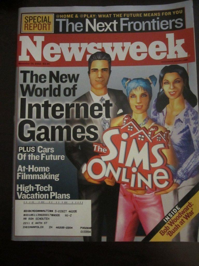 The Sims Newsweek cover; Foto ebay.com