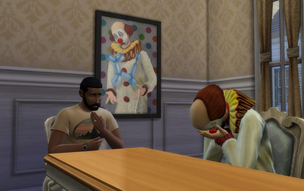 Tragični klovn - Tragic Clown The Sims 4; Foto simscommunity.info